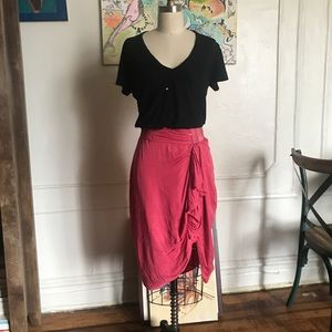 Gorgeous All Saints Hot Pink Skirt